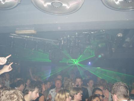 A view over the dancefloor
